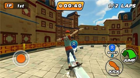城市滑板者